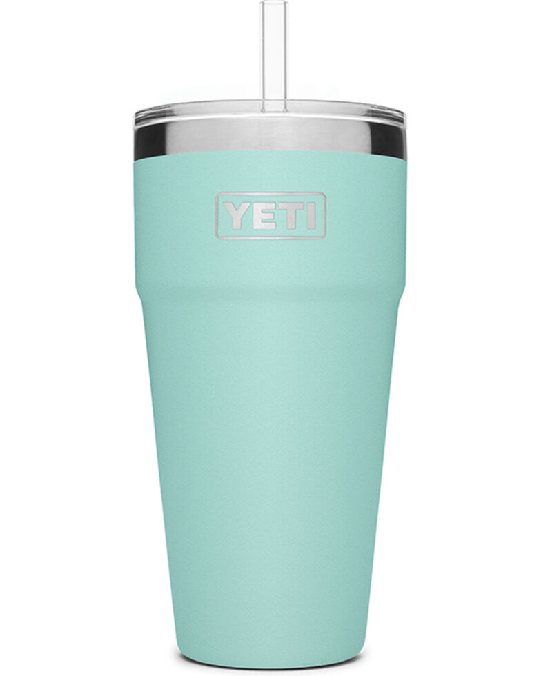 Yeti Rambler 26oz Seafoam Straw Cup, Teal, hi-res