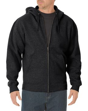 Dickies Midweight Fleece Zip-Up Hooded Work Jacket, Black, hi-res