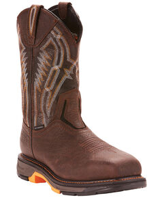 Ariat Men's Brown Workhog XT Dare Boots - Carbon Toe , Brown, hi-res