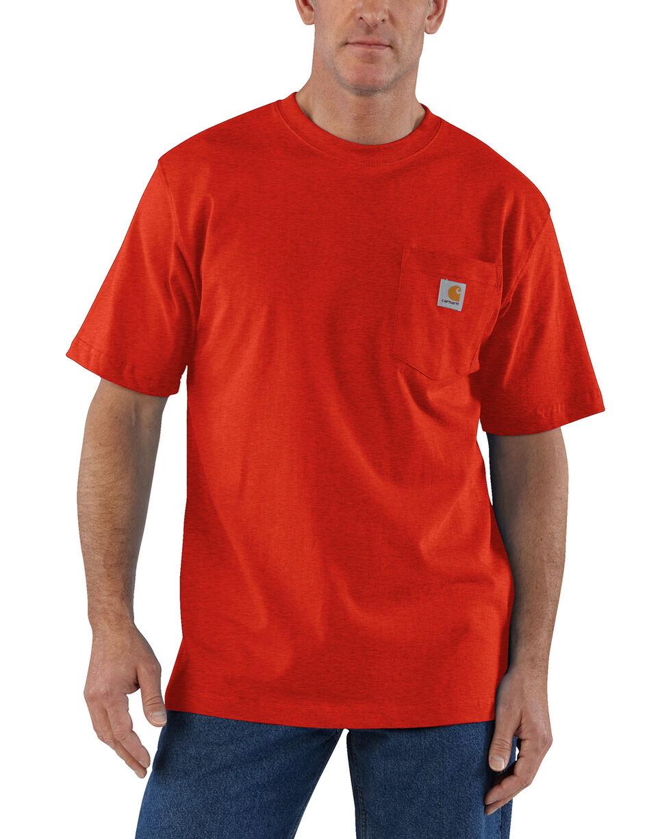 Carhartt Short Sleeve Pocket Work T-Shirt, Dark Orange, hi-res