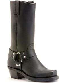 "Frye Women's Metal Harness 12"" Motorcycle Boots, Black, hi-res"