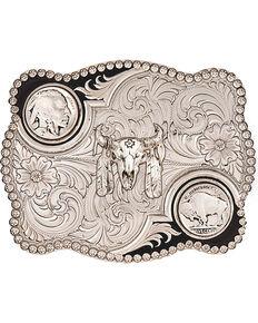 Montana Silversmiths Buffalo Nickel Belt Buckle, Silver, hi-res