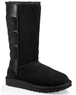 UGG Women's Black Classic Tall UGG Rubber Boots , Black, hi-res