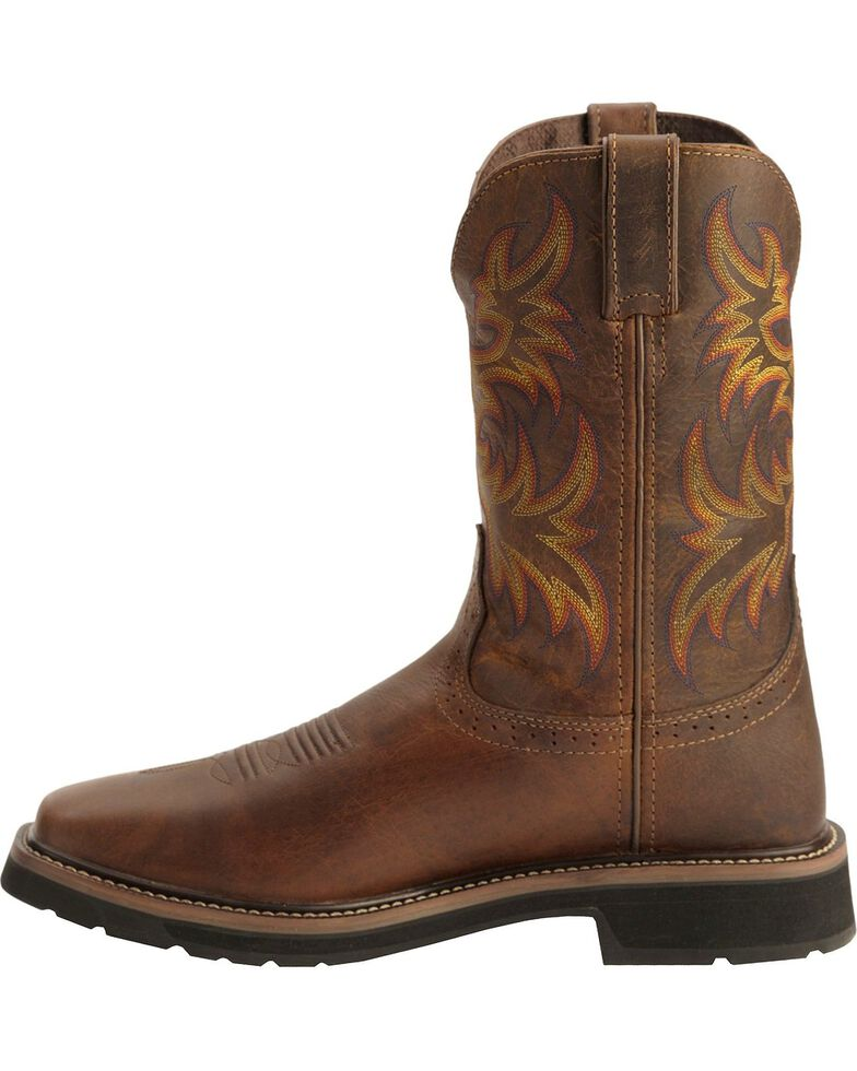 "Justin Men's 11"" Rugged Western Work Boots, Tan, hi-res"