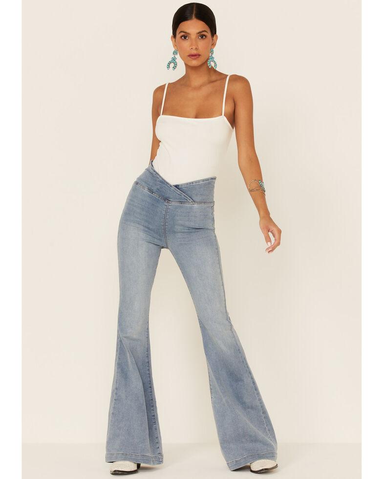 Free People Women's Venice Beach Flare Jeans , Blue, hi-res
