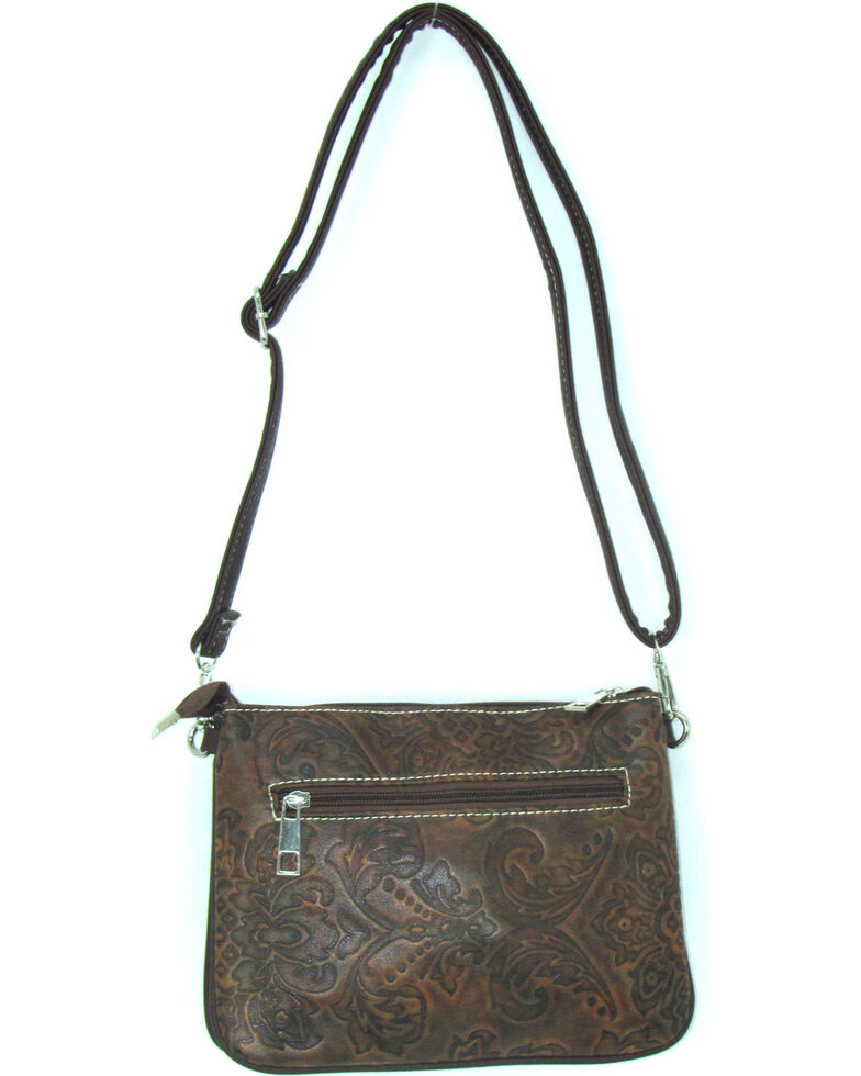 Savana Women's Buckle Tooled Crossbody Bag, , hi-res