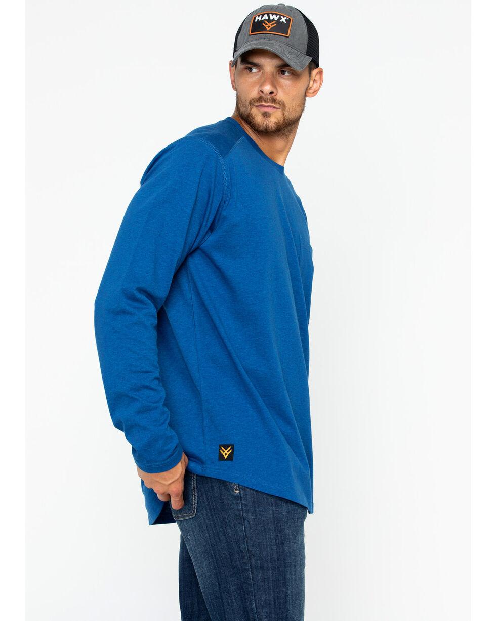 Hawx® Men's Solid Pocket Crew Tee , Heather Blue, hi-res