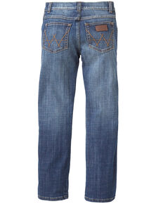 Wrangler Retro Boys' Alpine Stretch Low Slim Straight Jeans , Blue, hi-res