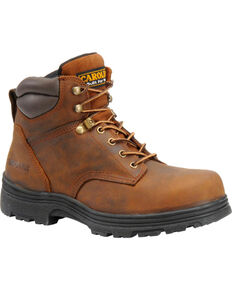 "Carolina Men's 6"" Steel Toe Waterproof Work Boots, Brown, hi-res"