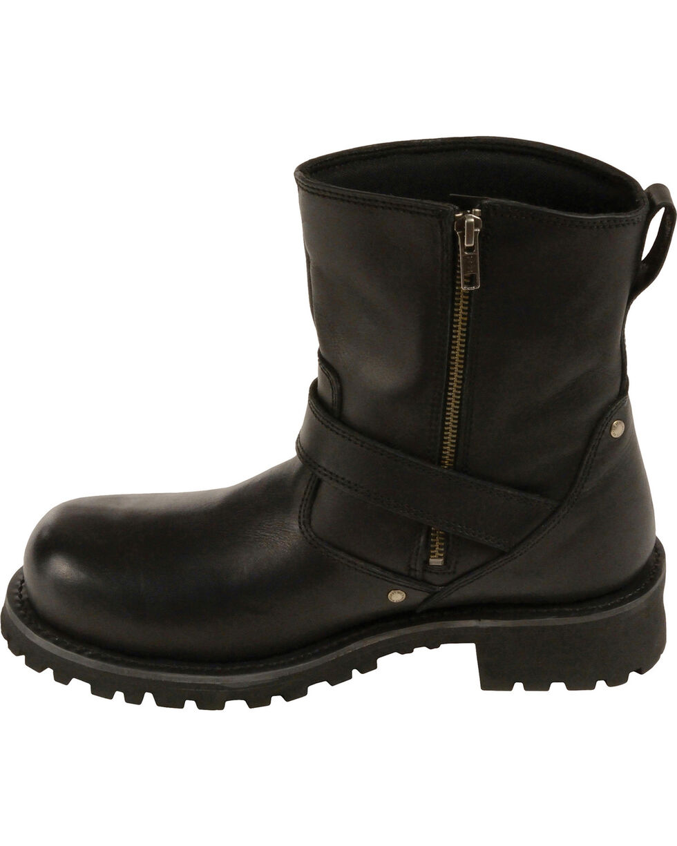 "Milwaukee Leather Men's 6"" Classic Engineer Boots - Round Toe, Black, hi-res"