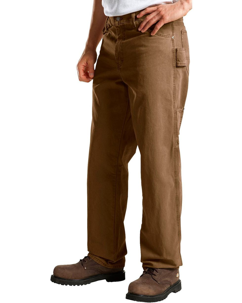Dickies Men's Relaxed Fit Sanded Duck Carpenter Jeans, Timber, hi-res