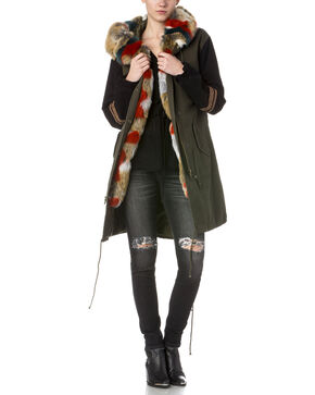 Miss Me Women's Olive Getting Warmer Utility Jacket , Olive, hi-res