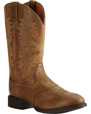Ariat Men's Heritage Hackamore Western Boots, Brown, hi-res