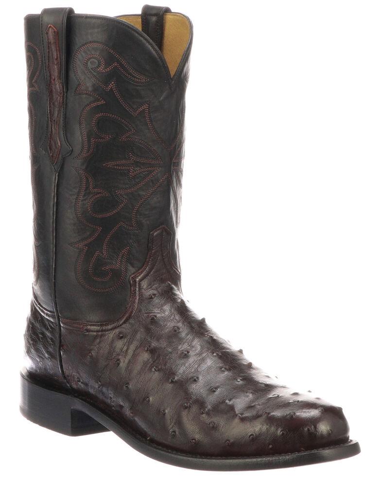 Lucchese Men's Hudson Exotic Western Boots - Medium Toe, Black, hi-res