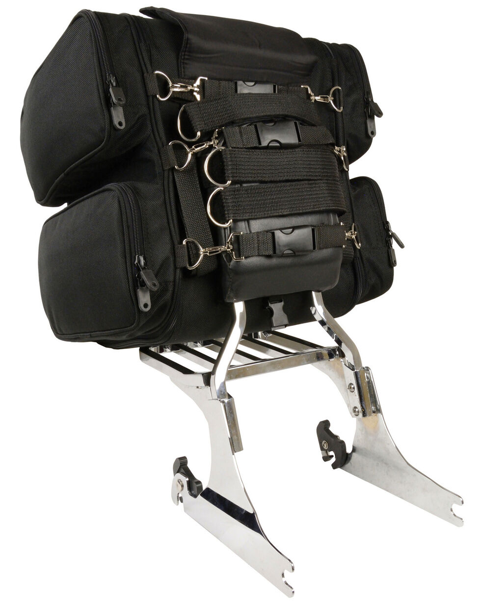 Milwaukee Leather Adjustable Sissy Bar Bag, Black, hi-res