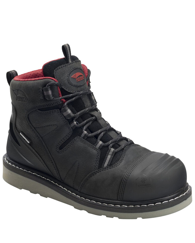 "Avenger Men's Waterproof 5"" Work Boots - Carbon Safety Toe, Black, hi-res"