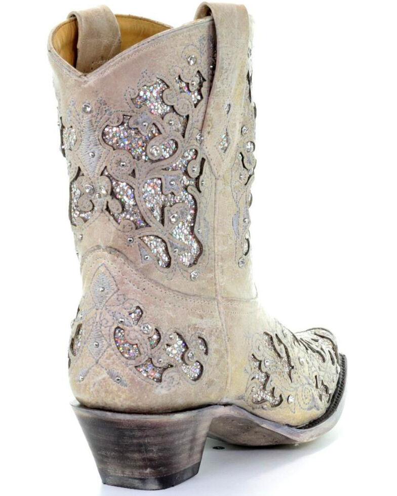 12eec8ca0a4 Corral Women's Metallic Glitter Inlay & Crystal Boots - Snip Toe