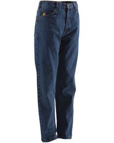 Berne Stonewash Flame Resistant 5-Pocket Jeans, Stonewash, hi-res