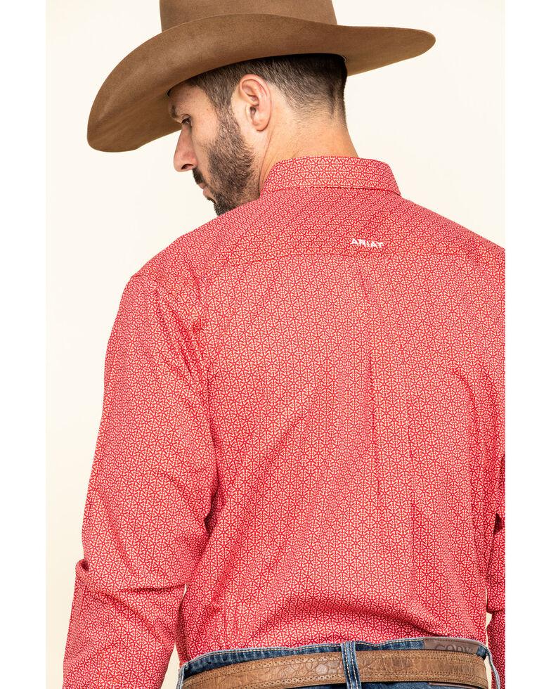 Ariat Men's Nakima Small Geo Print Long Sleeve Western Shirt - Big , Red, hi-res