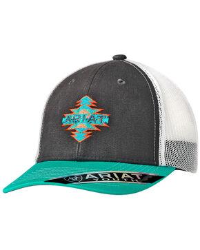 Ariat Youth Aztec Turquoise Trucker Cap, Turquoise, hi-res