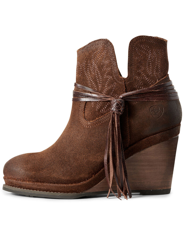 Ariat Women's Memphis Rustic Ginger Fashion Booties - Round Toe, Brown, hi-res