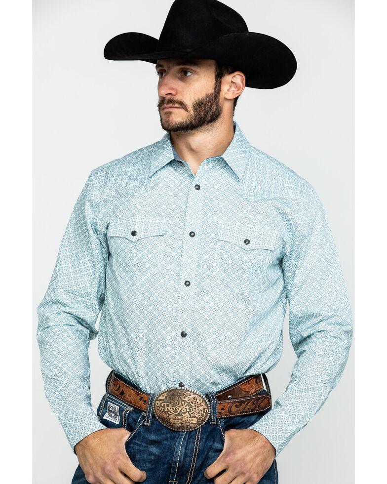 Cody James Men's Rosarito Floral Geo Print Long Sleeve Western Shirt , White, hi-res