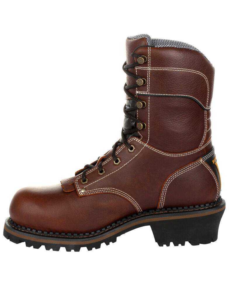 Georgia Boot Men's Amp LT Insulated Waterproof Work Boots - Composite Toe, Brown, hi-res