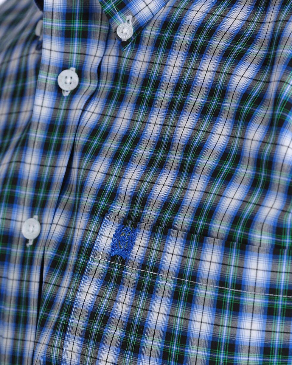 Cinch Men's Multi Plaid Plain Weave Long Sleeve Button Down Shirt, Multi, hi-res