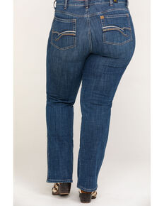 Wrangler Women's Aura Instantly Slimming Jeans - Plus, Indigo, hi-res