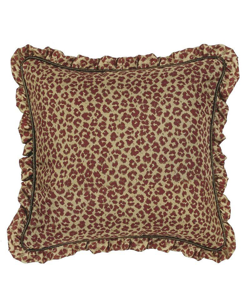 HiEnd Accents Austin Ruffle Leopard Euro Sham, Multi, hi-res