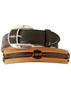 Justin Men's Fenced In Belt, Black, hi-res