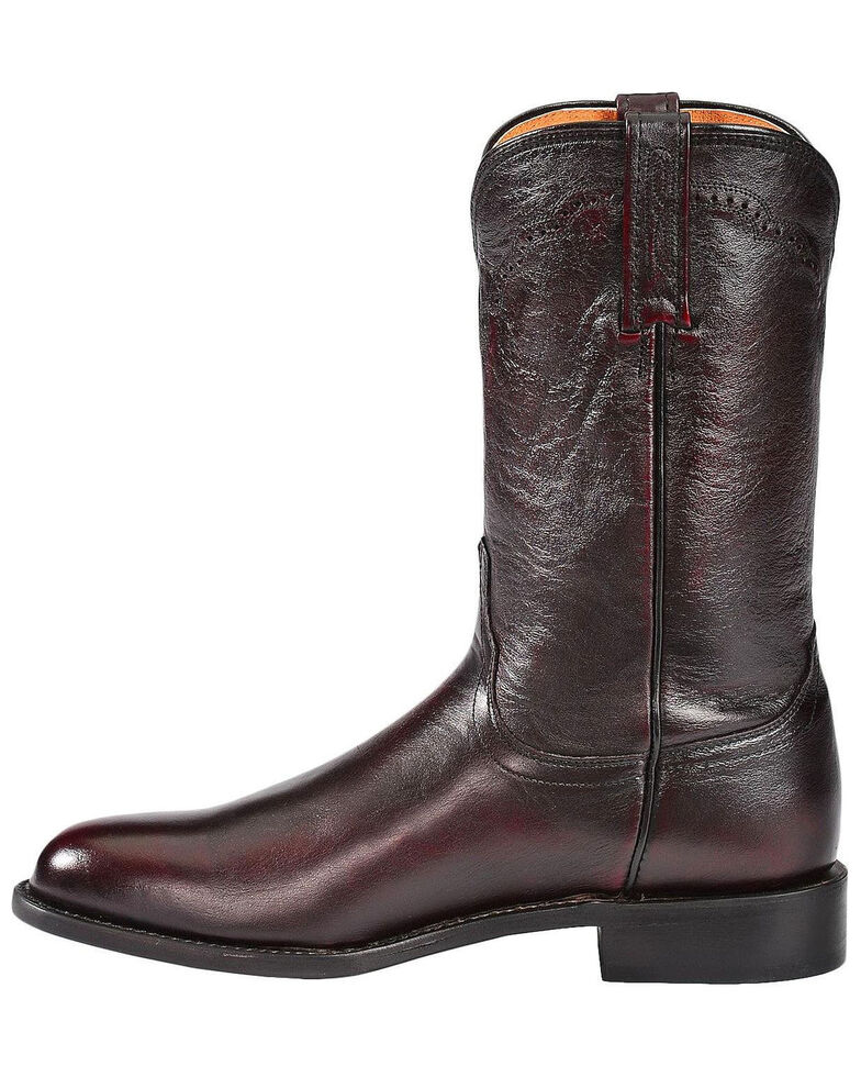 Lucchese Men's Lawrence Round Toe Western Boots, Black Cherry, hi-res