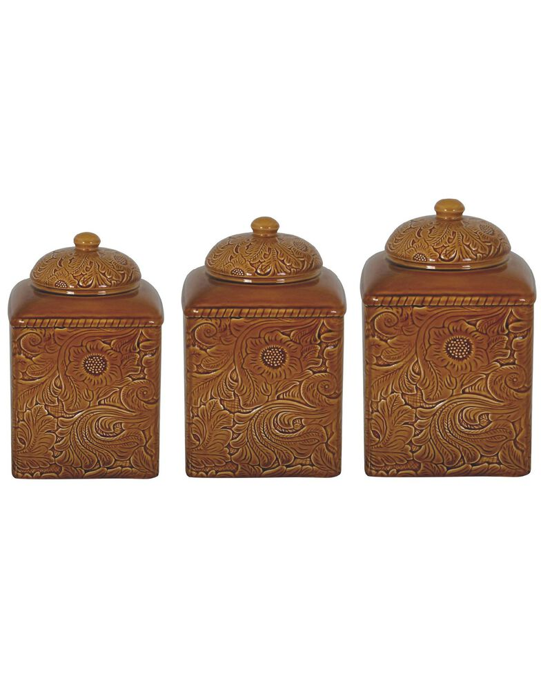 HiEnd Accents Savannah 3-Piece Canister Set, Mustard, hi-res