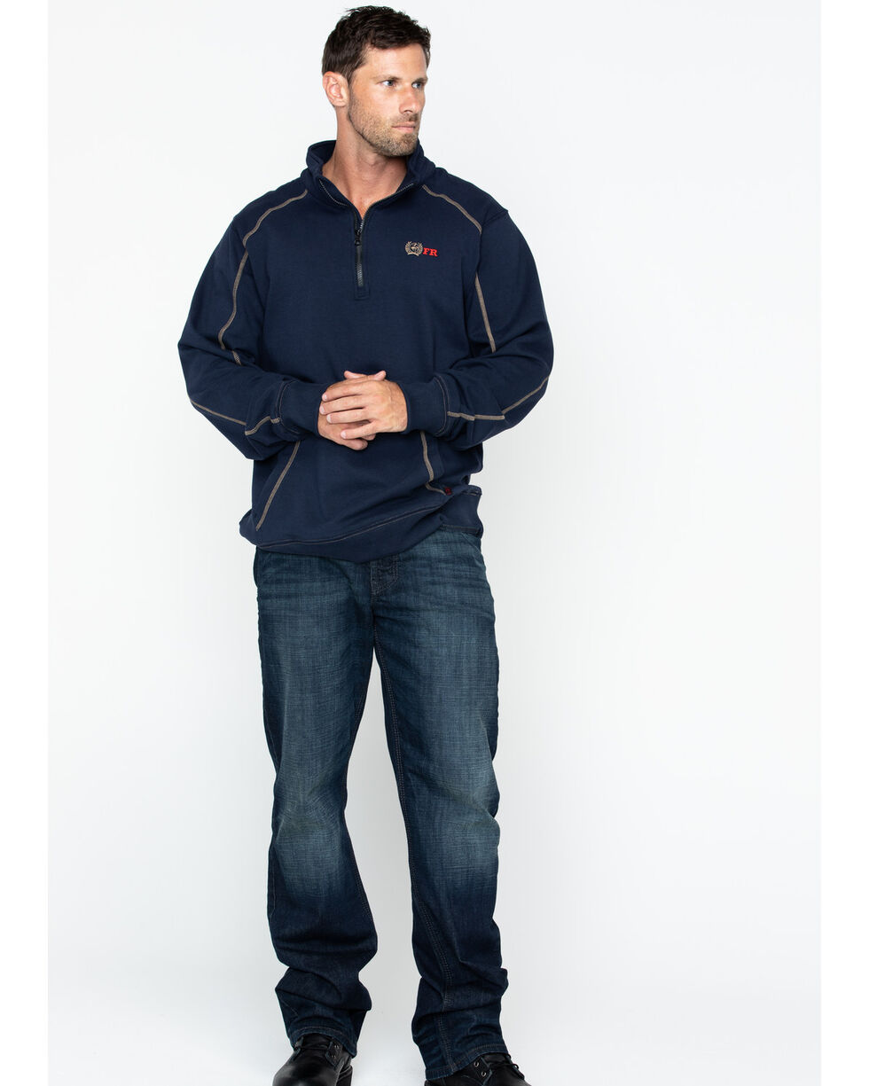 Cinch WRX Men's FR 1/4 Zip Work Pullover , Navy, hi-res
