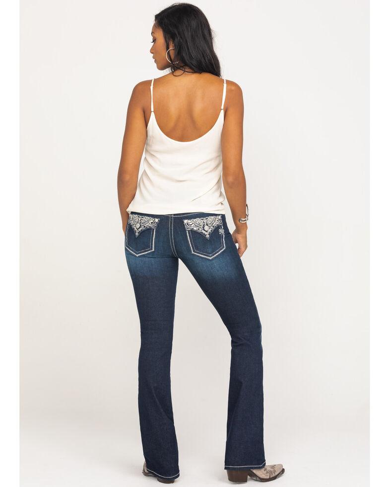 "Miss Me Women's Dark Wash Metallic Glitz 34"" Bootcut Jeans , Blue, hi-res"