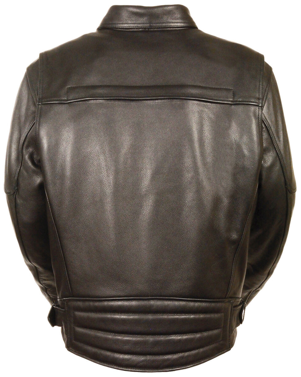 Milwaukee Leather Men's Side Belt Utility Pocket Motorcycle Jacket, Black, hi-res