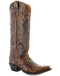 Old Gringo Women's Alyssa Western Boots - Snip Toe, Brown, hi-res