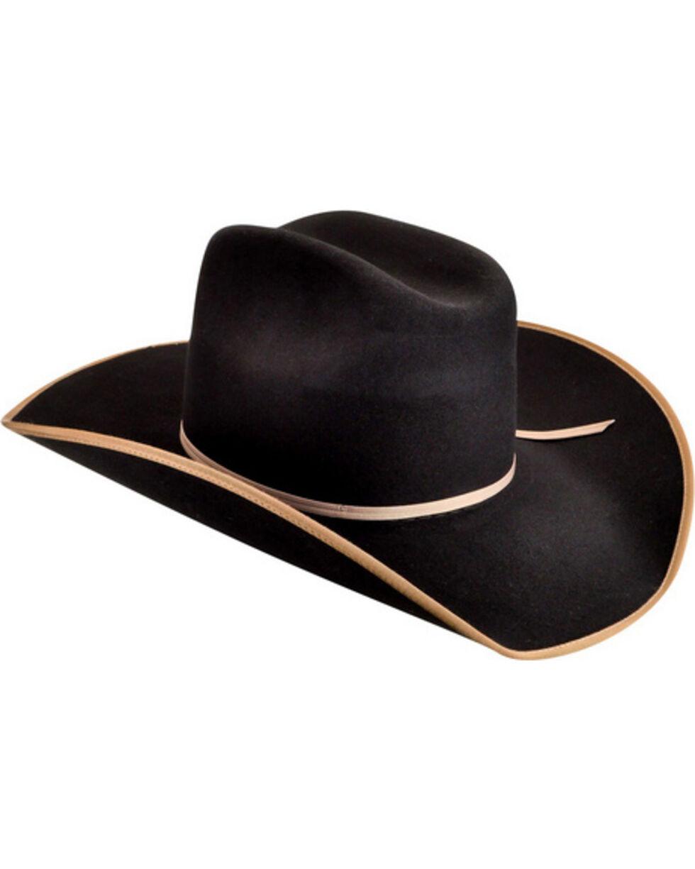 Bailey Men's Emmett 3X Wool Felt Cowboy Hat, Black, hi-res