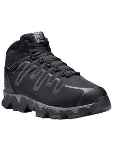 Timberland Men's Powertrain Alloy Toe Ripstop Work Boots, Black, hi-res
