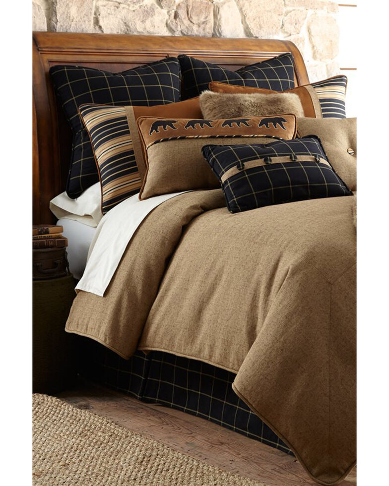 HiEnd Accents Ashbury Bedding Set - Super King, Brown, hi-res