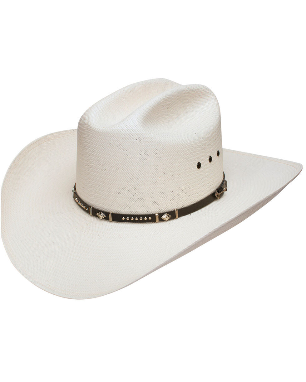 Stetson Men's Natural Lucky 7 10X Straw Cowboy Hat , Natural, hi-res