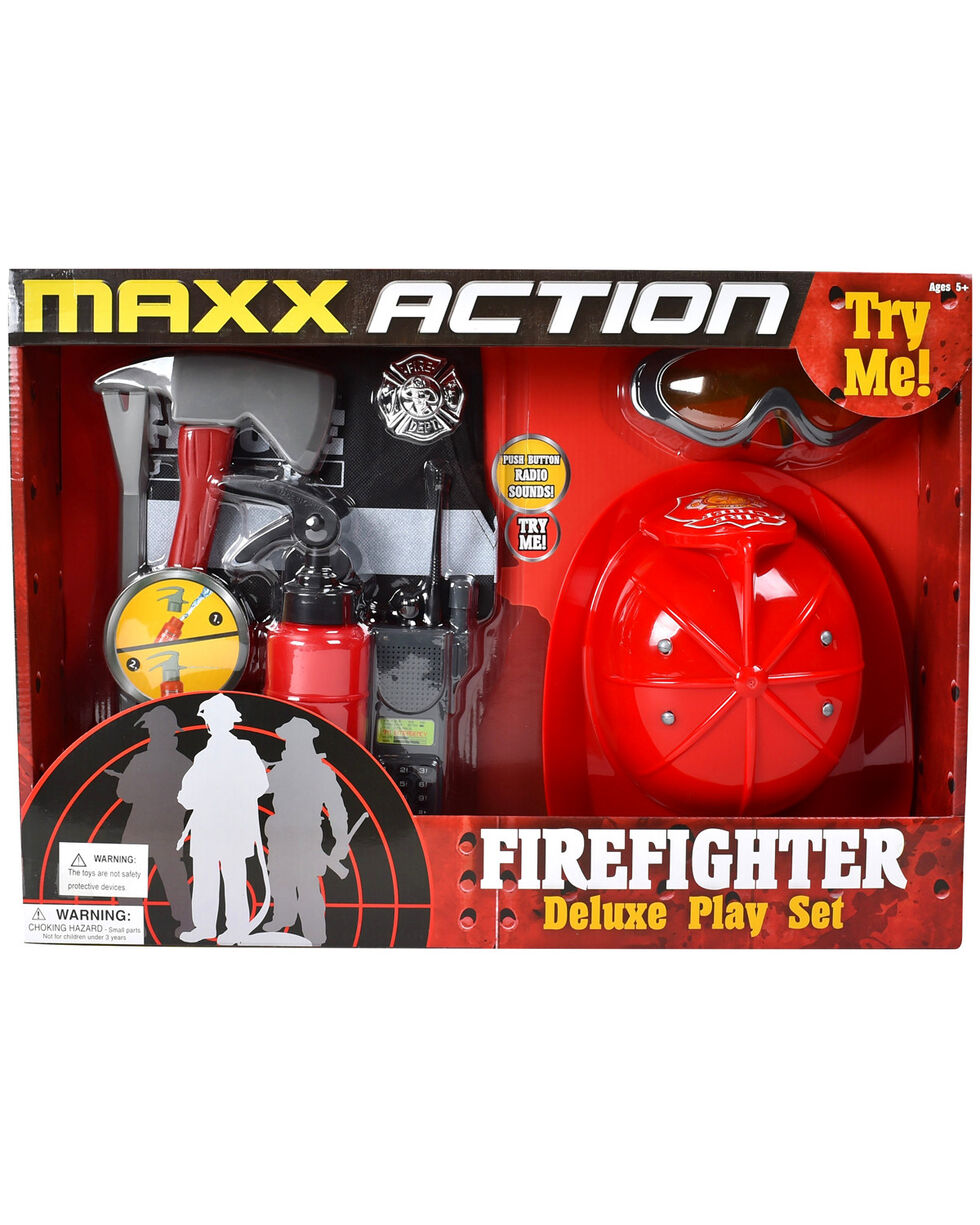 Maxx Action Fire Rescue Deluxe Play Set, Red, hi-res