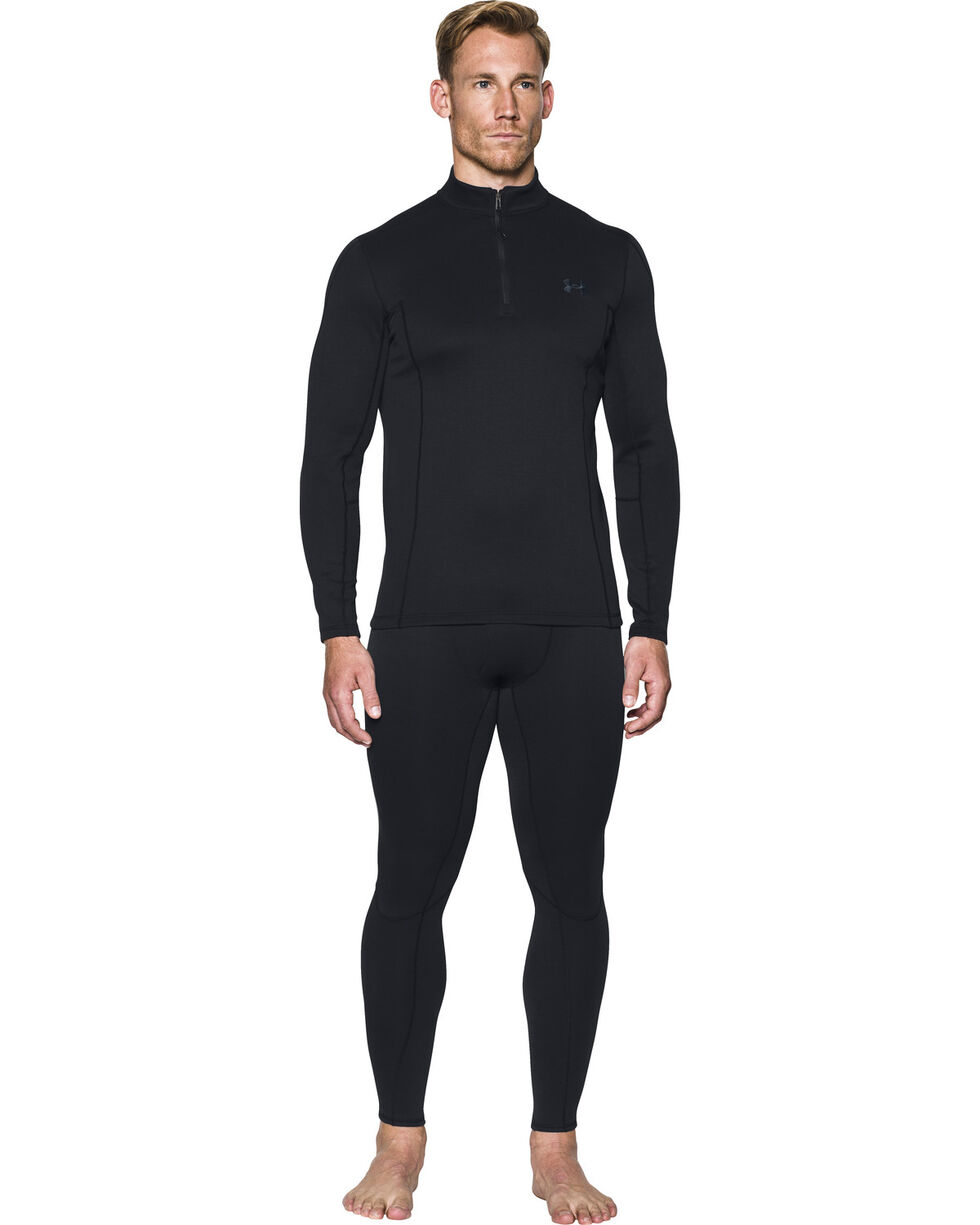 Under Armour Men's Black Ridge Reaper Merino 1/4 Zip Pullover , Black, hi-res