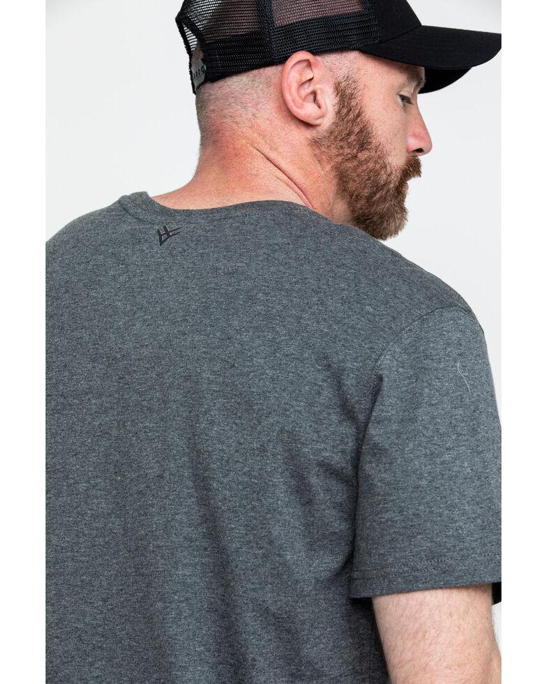 Hawx Men's Green Pocket Crew Short Sleeve Work T-Shirt - Big , Charcoal, hi-res