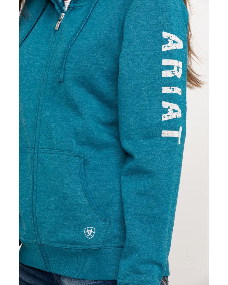 Ariat Women's R.E.A.L. Dream Teal Full Zip Hoodie , Teal, hi-res