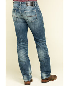 Rock & Roll Cowboy Men's Revolver Reflex Stretch Slim Straight Jeans , Blue, hi-res