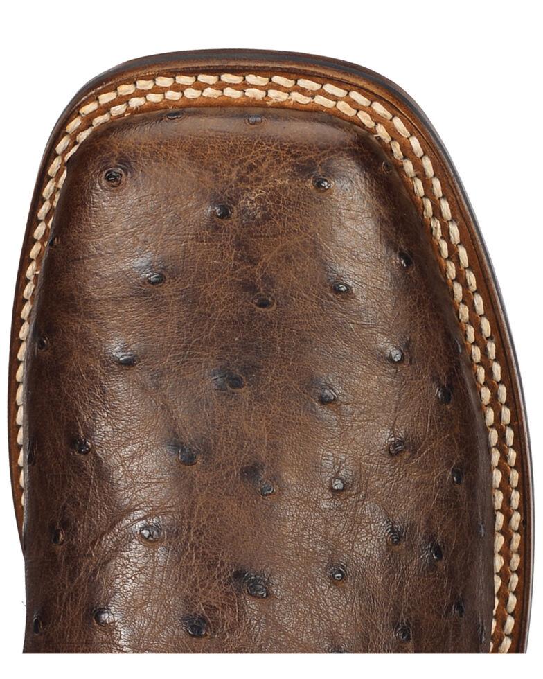 Dan Post Men's Alamosa Exotic Ostrich Cowboy Certified Boots, Chocolate, hi-res