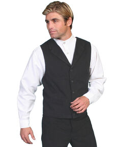 Wahmaker by Scully Brushed Cotton Vest, Black, hi-res