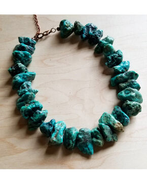 Jewelry Junkie Women's Chunky Natural Turquoise Choker Necklace, Turquoise, hi-res