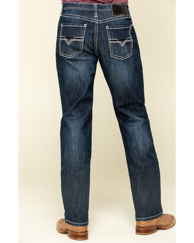 Tuf Cooper Men's Dark Vintage Stretch Competition Fit Jeans  , Blue, hi-res